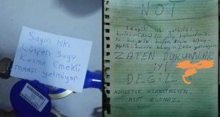 """İSKİ görevlisine suyu kesme notu:""""Lütfen suyu kesme, maaş hiçbir şeye yetmiyor"""""""