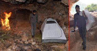Şehir hayatını bırakıp Mağarada çadır kurup bekliyor, haftalık 2 bin TL kazanıyor